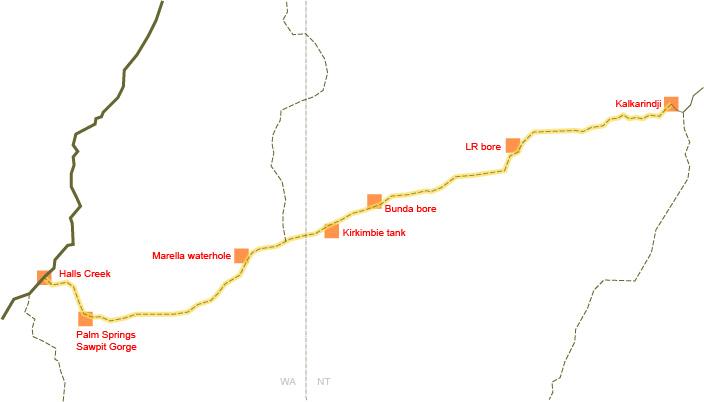 Buntine Highway map