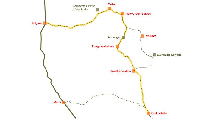 Australia Map Nt.Cycle Trails Australia Finke Road Sa Nt