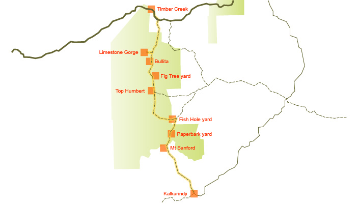 Judbarra/Gregory National Park touring map
