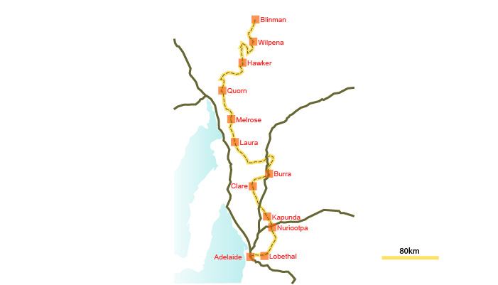 Mawson Trail touring map