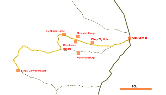 Mereenie Loop map