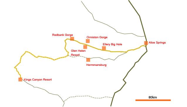 Mereenie Loop map