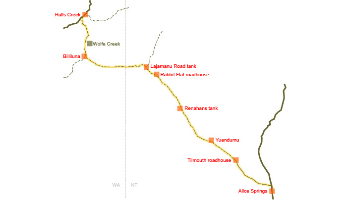 Tanami map