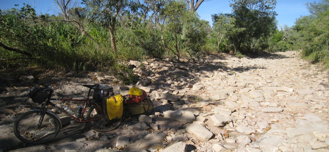 no easy bike tour, Limestone campsite, Gregory National Park, Northern Territory