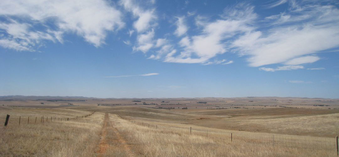 bike touring, Near Burra, Mawson Trail, South Australia