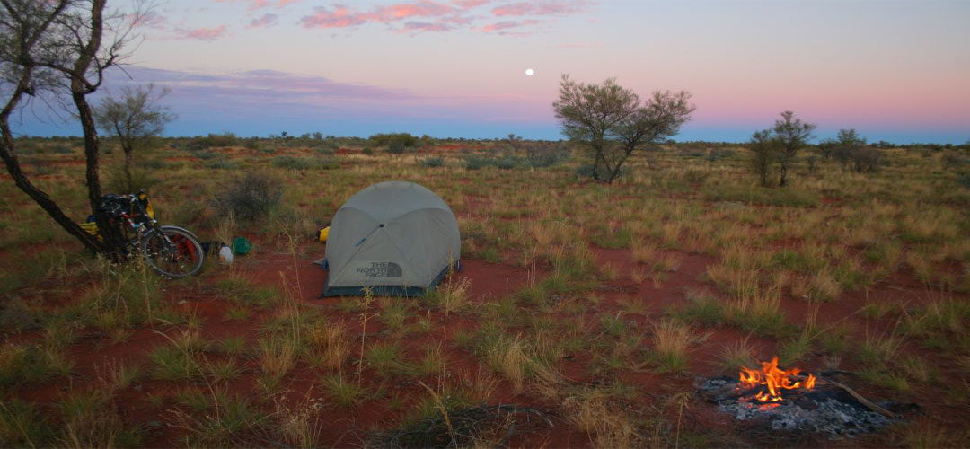 solo camping, Rabbit Flat, Tanami Track, Northern Territory