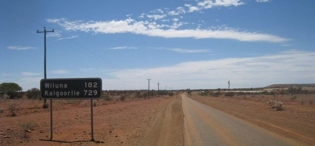 bike touring, Menzies, Western Australia