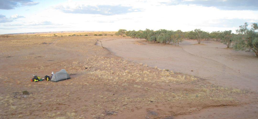 free bush camping at Duff Creek, Oodnadatta Track, South Australia