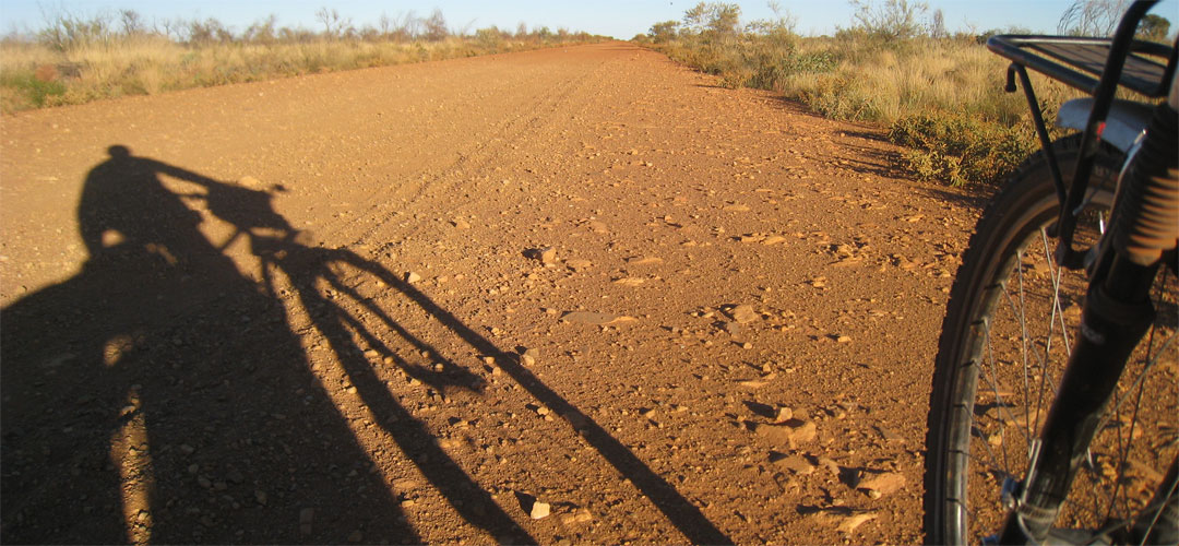 bike tyre on Tanami Track
