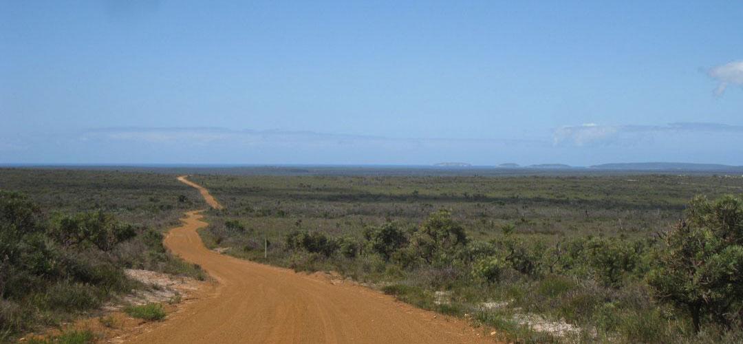 bike touring, Quaalup, Bremer Bay, south coast of Western Australia