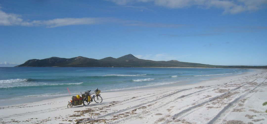bike touring, Two Peoples Bay, south coast of Western Australia