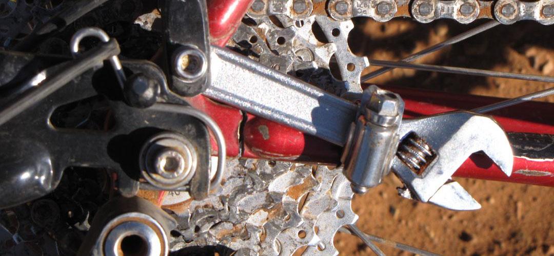 emergency bike frame repair, bike touring