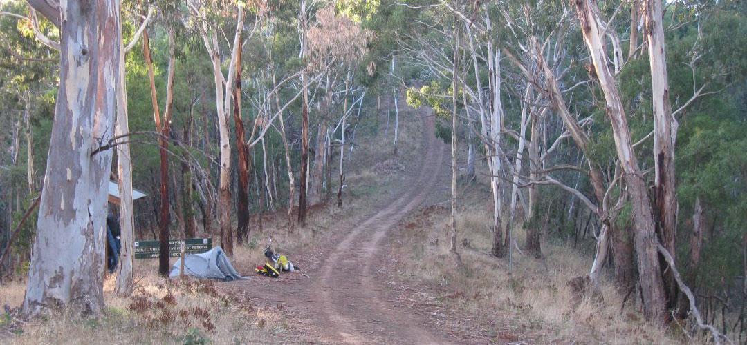 tent, Cudlee Creek, Mawson Trail, South Australia