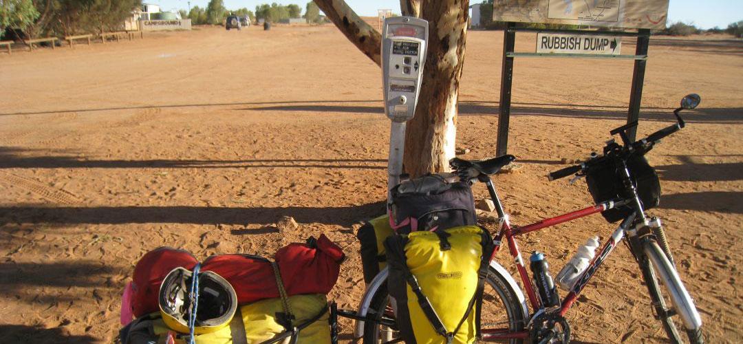 bike at William Creek, Oodnadatta Track, South Australia